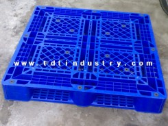 Pallet nhựa cũ 1100x1100x150mm ( Xanh Dương)